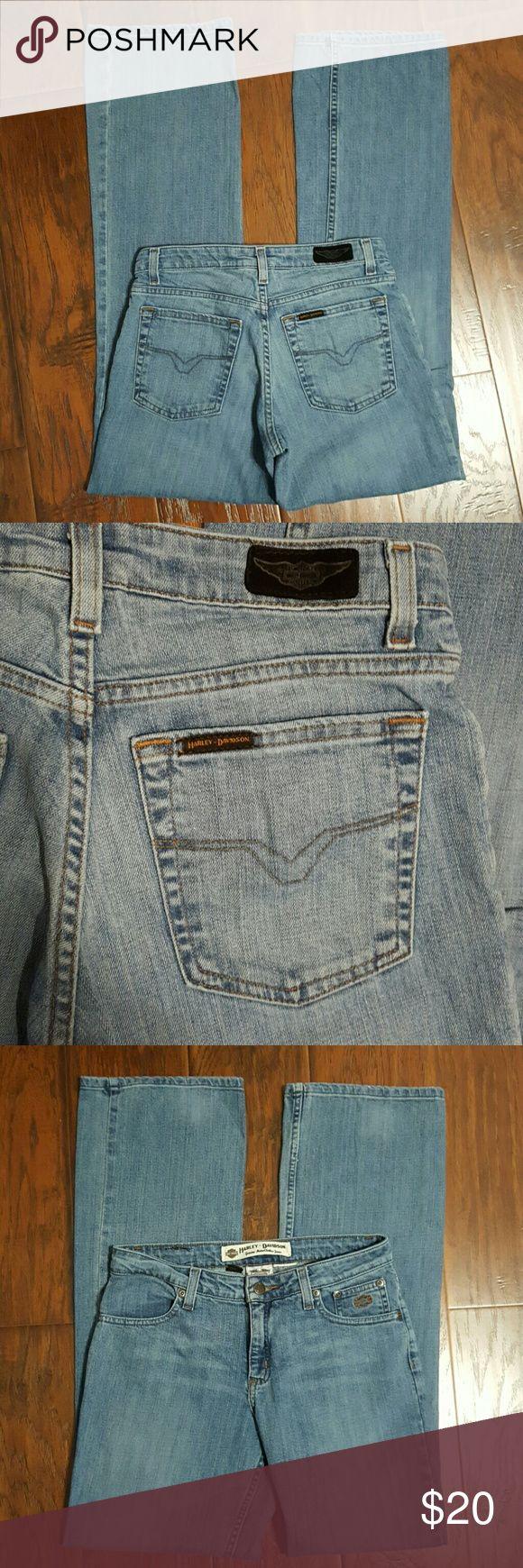 Harley Davidson jeans size 2 Harley Davidson jeans size 2. Inseam is 31.5 inches.. Harley-Davidson Jeans