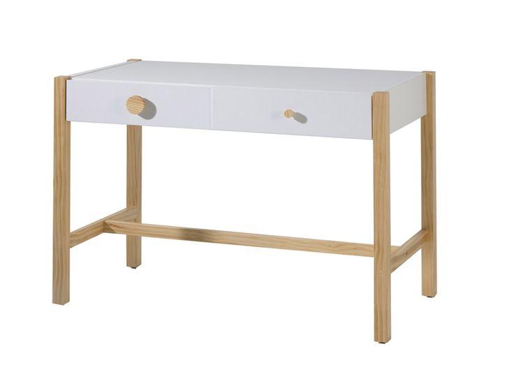 escritorio nordico blanco gris madera mod teyo