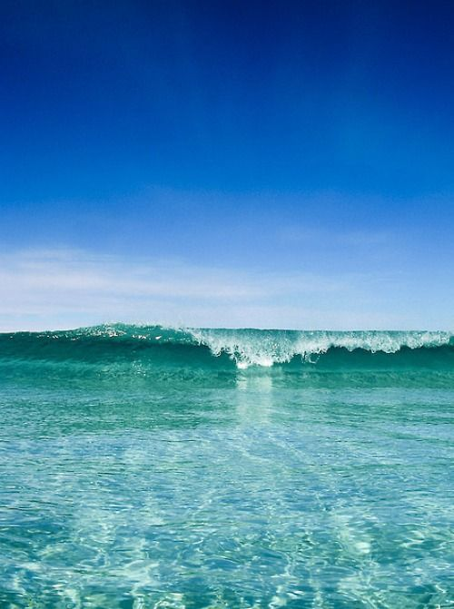 Clear Blue Sky, Clear Blue Ocean: Blue Sky, Blue Green, The Ocean, Surfing Up, Ocean Waves, Cottages Life, The Waves, Heavens, The Sea