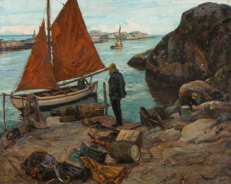 Thorolf Holmboe 1866-1935: Fra en uthavn (1905)
