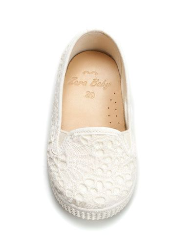 BABY CROCHET PLIMSOLL - Shoes - Baby girl (3-36 months) - Kids - ZARA United Kingdom