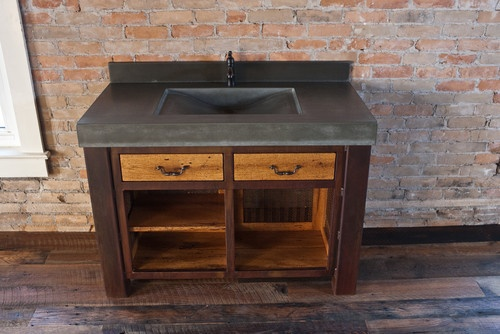 Concrete Top Vanity Desk : Best concrete countertops images on pinterest