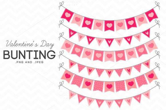 Check out Valentine's Day Bunting Clip Art by AzmariDigitals on Creative Market