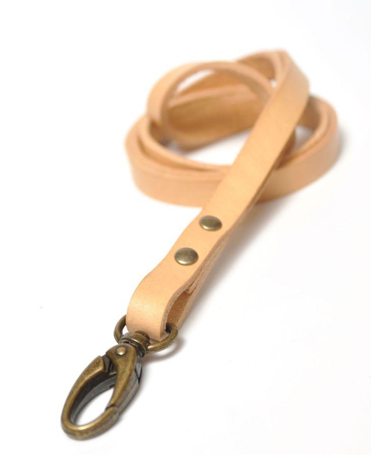 Nøglesnor / key strap i kernelæder