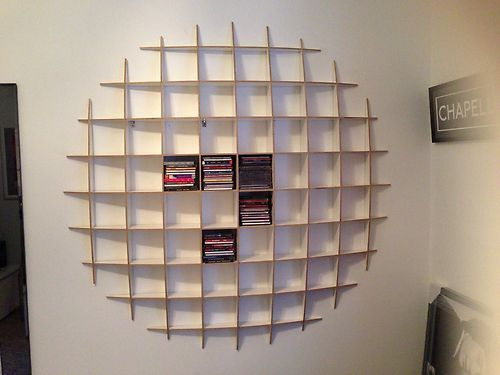 CD Storage Retro Shelving Unit - Unto This Last - Cost 145