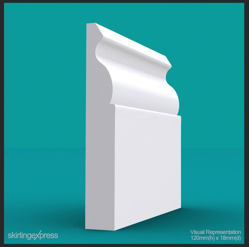 Ogee Skirting Board - available in a large range of sizes and lengths.