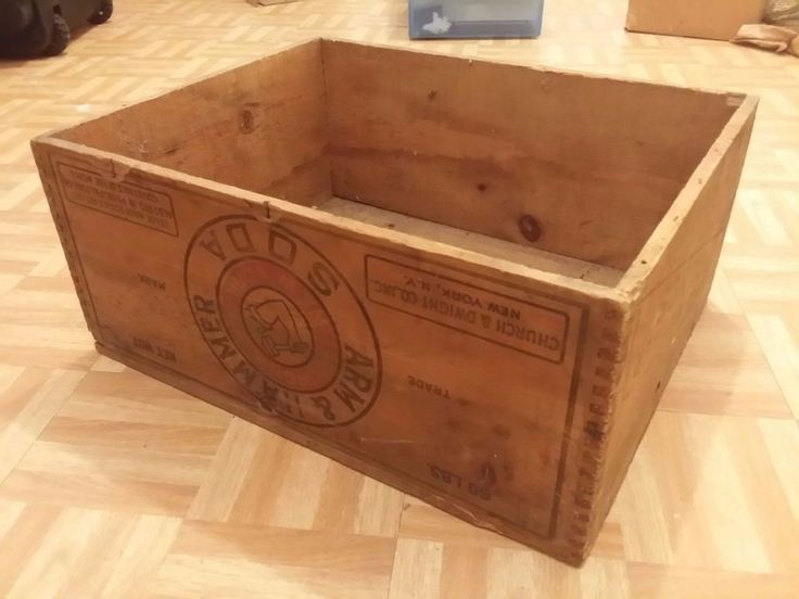 VINTAGE ARM AND HAMMER SODA CRATE NEW YORK RARE CHURCH & DWIGHT