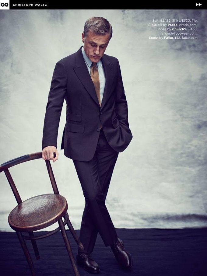 Кристоф Вальц появился в фотосессии для майского номера британского GQ