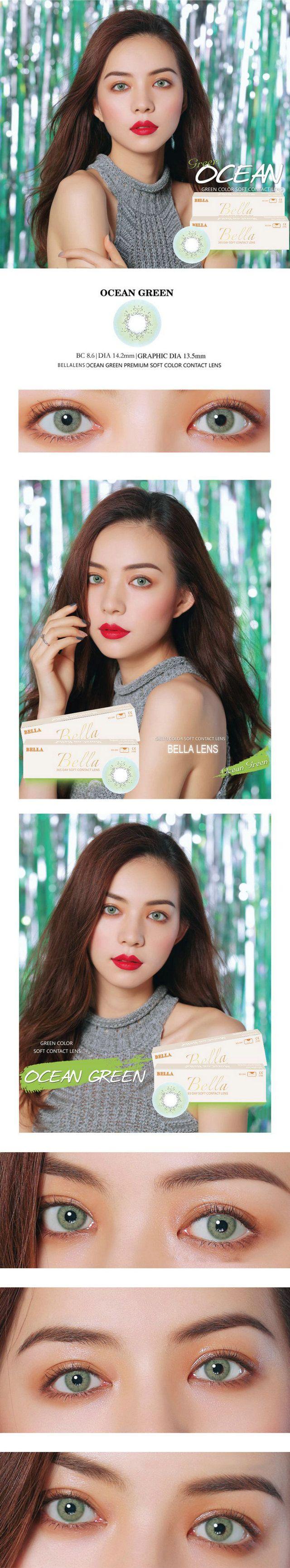 Color contact lenses online shop - 14 20mm Bella Ocean Contact Lens Color Green 16 99 Contactlensdropshipping Com Online