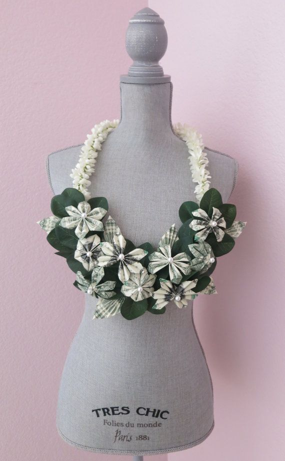 RESERVED Listing for MICHELLE:  Money lei (one dollar bills) - perfect for your special event!