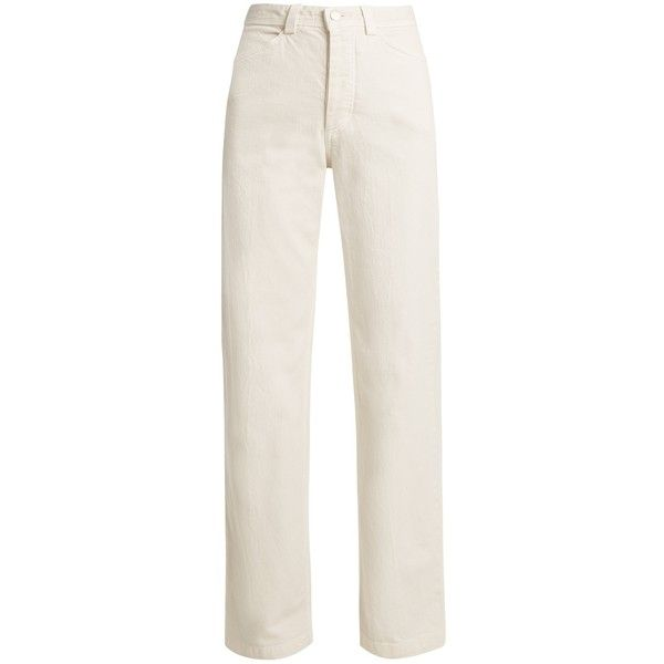 Workwear high-rise straight-leg denim jeans Rachel Comey... (€359) ❤ liked on Polyvore featuring jeans