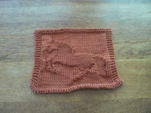 Knit Dishcloth Pattern Horse : 106 best images about MOT?F 22 on Pinterest Broncos pictures, Elephant baby...