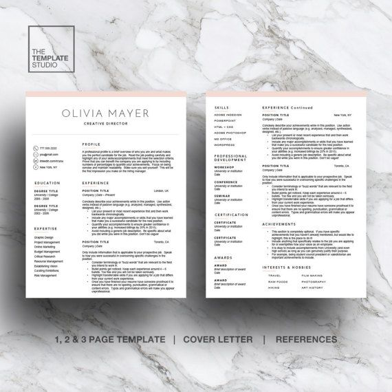 26 best images about Modern Resume Templates on Pinterest Cover - job reference page template