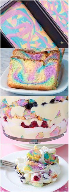 Double Rainbow Trifle