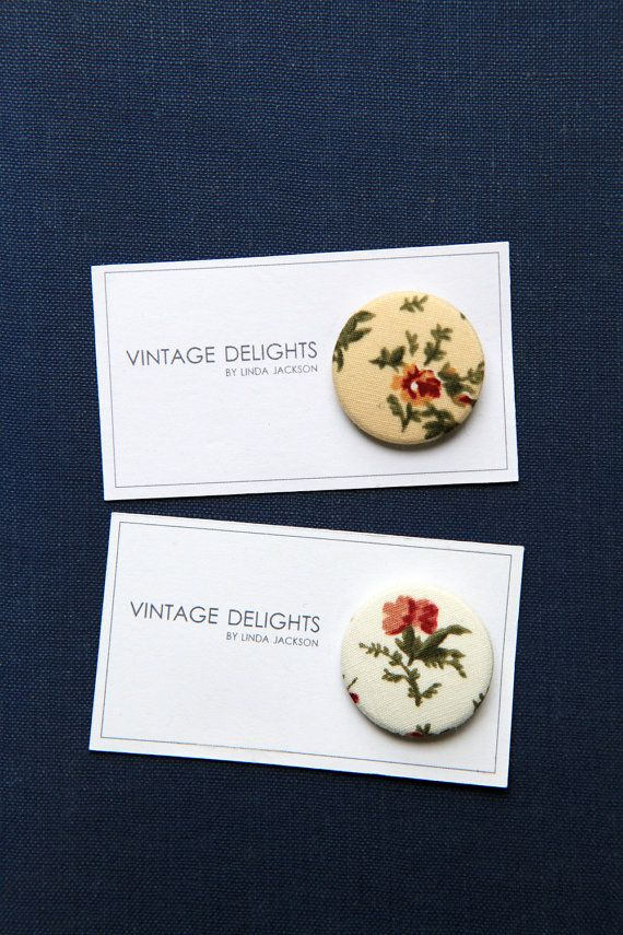Autumnal Fabric Badges by VintageDelightsShop on Etsy