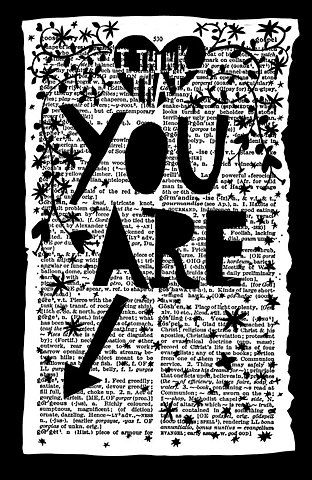 Find an old dictionary or one at the dollar store and make this cute page for cards, etc...point to the word you want to convey...i.e, gorgeous, smart, sweet, etc...: Paper Cut, Crossword Puzzles, Rob Ryan, Sweet, Gifts Ideas, Art Journals, Robryan, Card,  Crossword