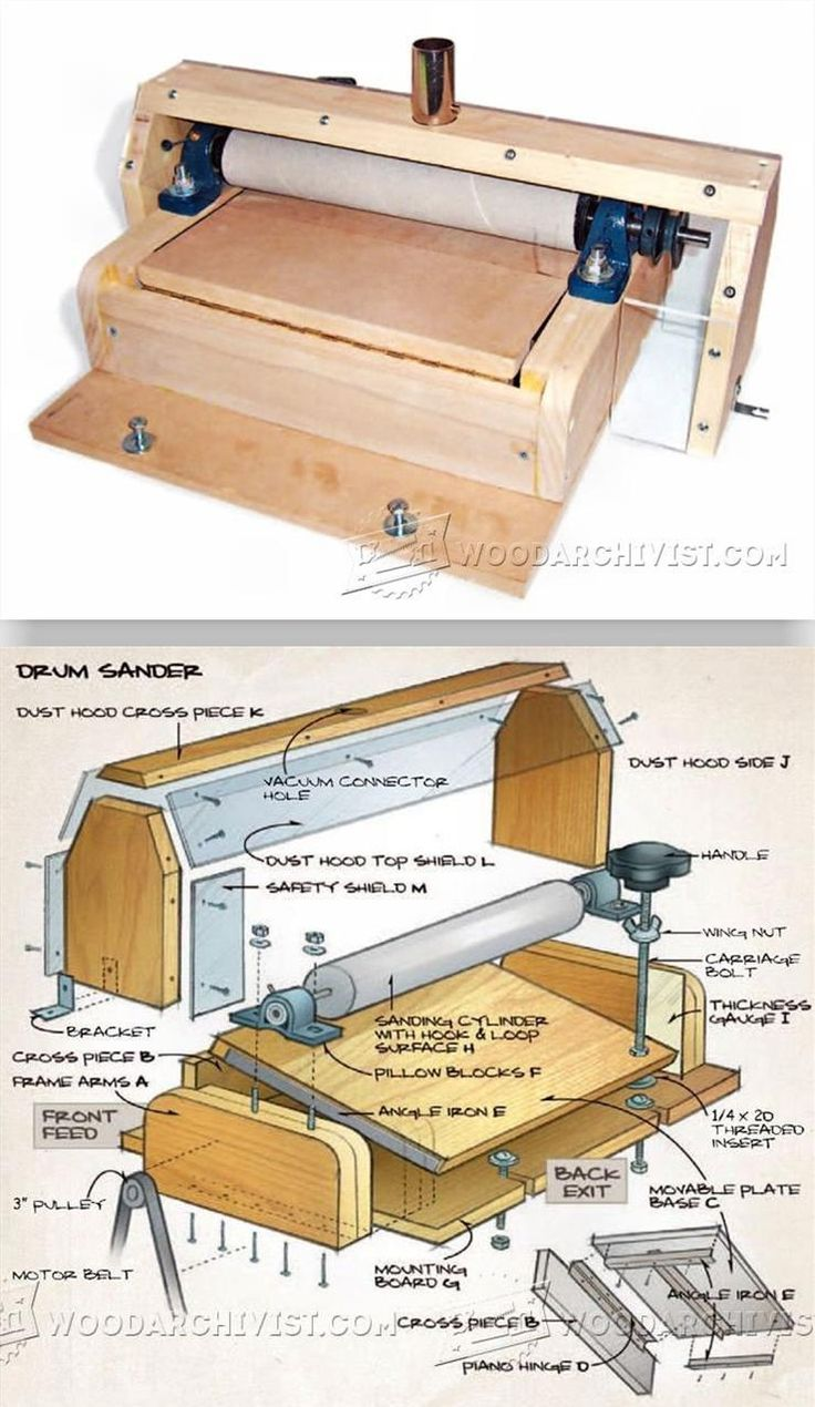 diy drum sander plans. diy thickness sander - sanding tips, jigs and techniques woodwork, woodworking, woodworking plans, projects diy drum plans