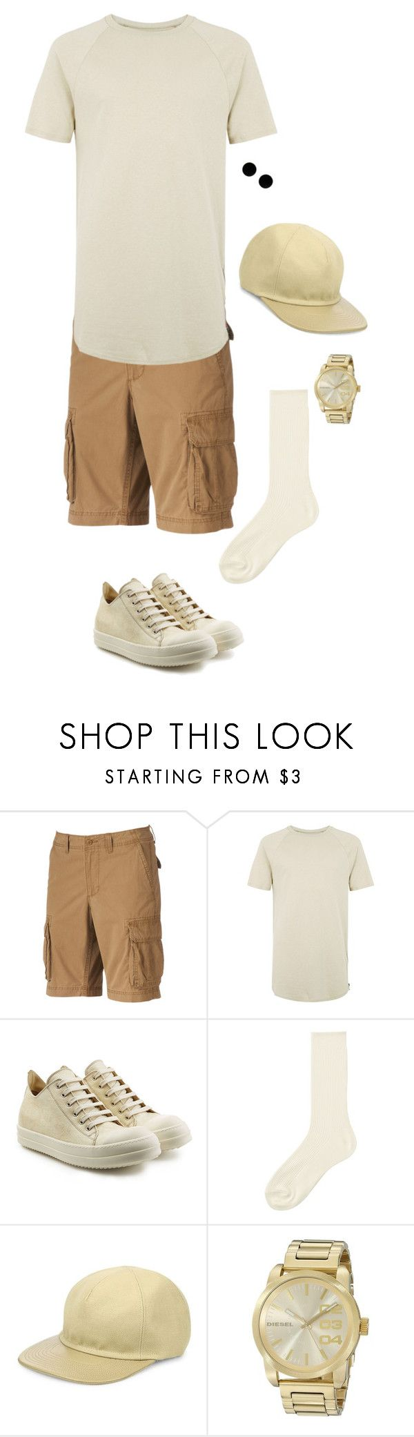 """Untitled #1788"" by dance4ever1222 ❤ liked on Polyvore featuring SONOMA Goods for Life, Topman, Rick Owens, Uniqlo, Balmain, Diesel, MM6 Maison Margiela, men's fashion and menswear"