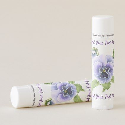 Pansy Nosegay Lip Balm - purple floral style gifts flower flowers diy customize unique