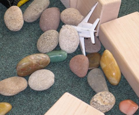 Ideas for adding and using loose parts for activities in a child care program.