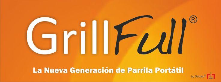 Diseño de Logo GrillFull ®, parrilla portátil de nueva generación en la que se tuvieron en cuenta sus cualidades destacables como sencillez, practicidad, innovación, solidez. (octubre de 2013)  Virrey del Pino- Buenos Aires