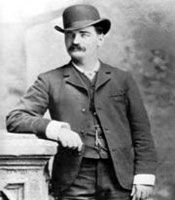 Bat Masterson             Lawman Bat Masterson hailed from Quebec, Canada, but lived in Illinois and Kansas before proceeding to work on the Santa Fe Railroad of Dodge City.     He was born Bartholemew Masterson in 1853. He became a buffalo hunter and engaged in the Battle of Adobe Walls in Texas in 1874 and thereafter worked as an Army scout. Masterson moved back to Dodge City, became a saloon owner and served as a city policeman before being elected sheriff of Ford County.