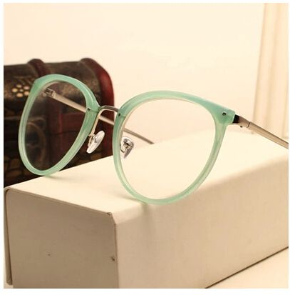 Decoração do vintage Óculos Ópticos Quadro miopia rodada de metal das mulheres dos homens unisex óculos óculos oculos de grau óculos