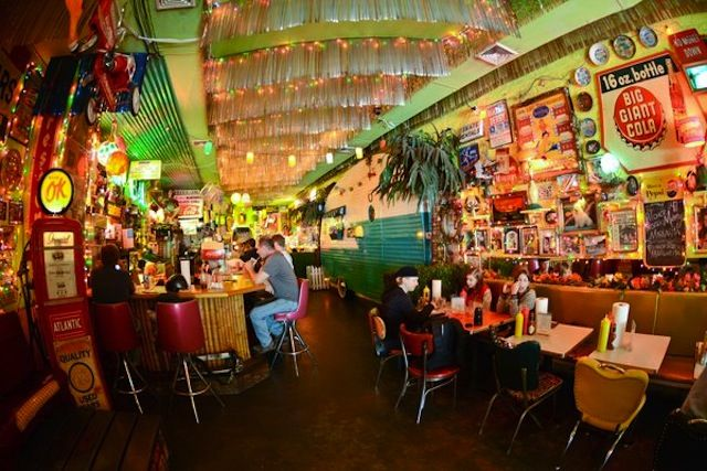 Come in for the kitschy decor, stay for the potent margaritas and tater tots.