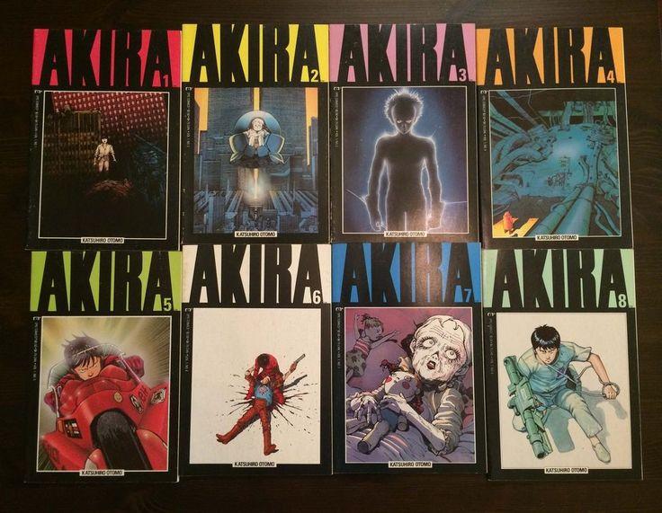 AKIRA 1-8 ISSUE LOT MARVEL EPIC OTOMO KATSUHIRO ARTBOOK ANIME MANGA ENGLISH