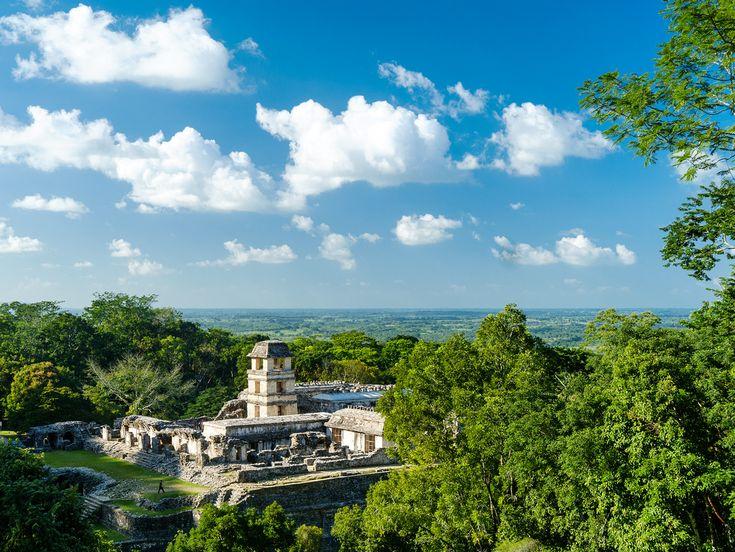 Famous example of Maya architecture - Palenque in Chiapas Mexico (1024 x 769) (OC) via Classy Bro