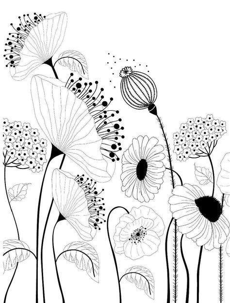Zeichnungen Blumen Garten