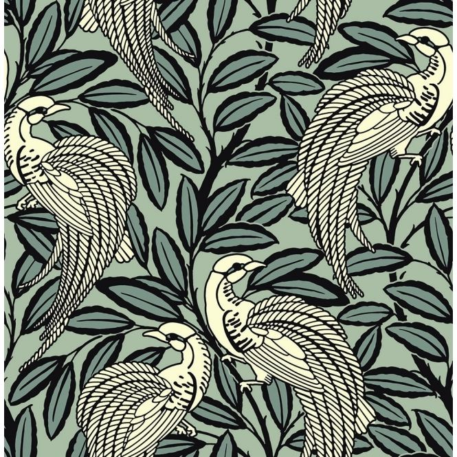 Tailfeather Peacock Designer Flock Wallpaper Bowler Black Flock Wallpaper Wallpaper Design Pattern Black Wallpaper