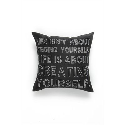 Creating Yourself cushion black 17x17