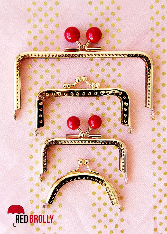 A simple little sewing tutorial. Learn how to use a sew in metal purse frame.