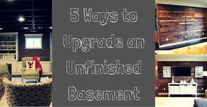 Finishing your basement can increase home value but can also be costly. Here are 5 great DIY home improvement projects for your basement.