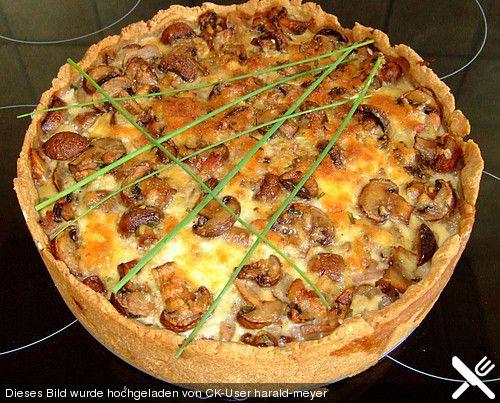 Chefkoch.de Rezept: Champignon - Speck - Quiche