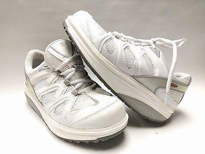 a10963067102 MBT 400167-16 Women s Fitness Walking Anti Rocker Shoe White 9 US 39 2 3  EUR