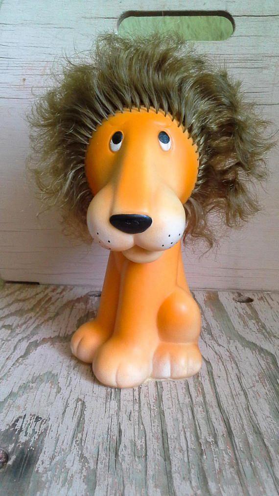 Russian vintage lion toy Soviet vintage rubber lion Russian