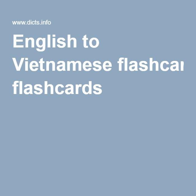 English to Vietnamese flashcards