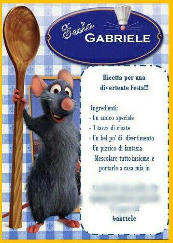 Invitation ratatouille cooking party