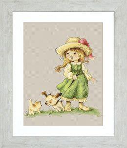 Luca-S, Bilde Jente med hundevalp, 364015