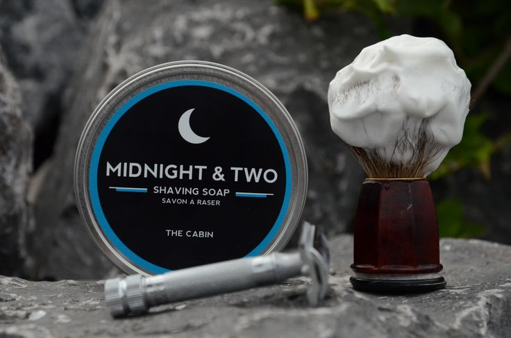 The Cabin... set against rocks of the Bow River www.midnightandtwo.com #midnightandtwo #shavingsoap #malegrooming