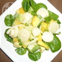 Foto de la receta: Ensalada de palmitos con aguacate y mango