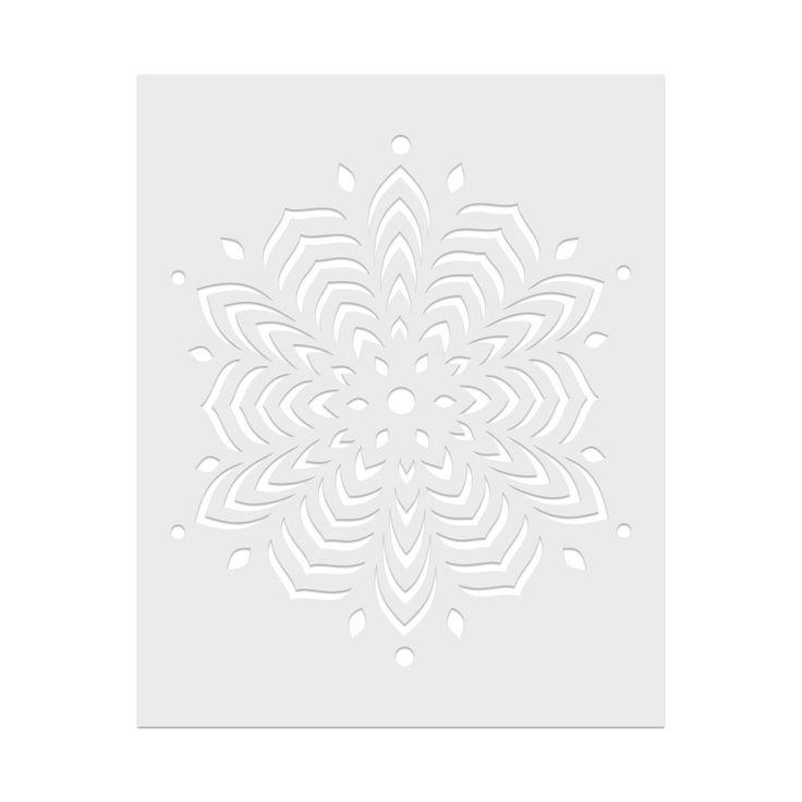 SA065 Star Snowflake Stencil