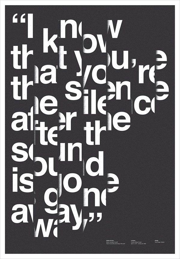 sick typography poster
