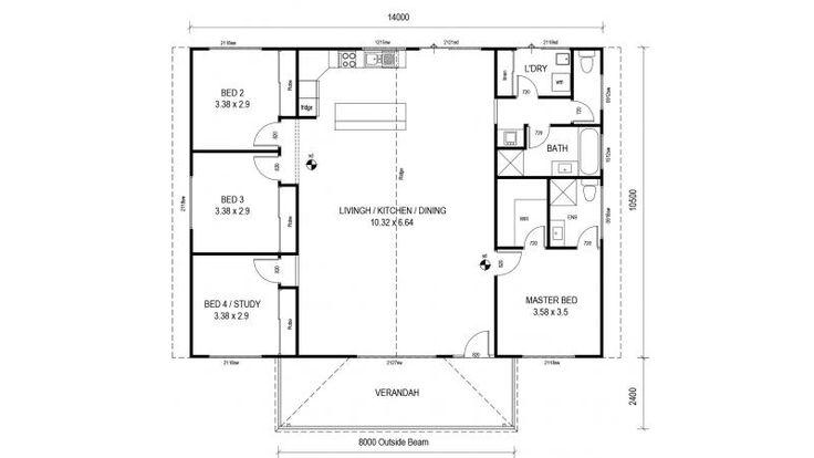 Rural Retreat 167 Floor Plan