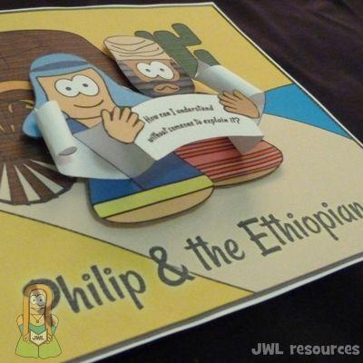 quick 3D image craft   Philip & Ethiopian (Acts 8)