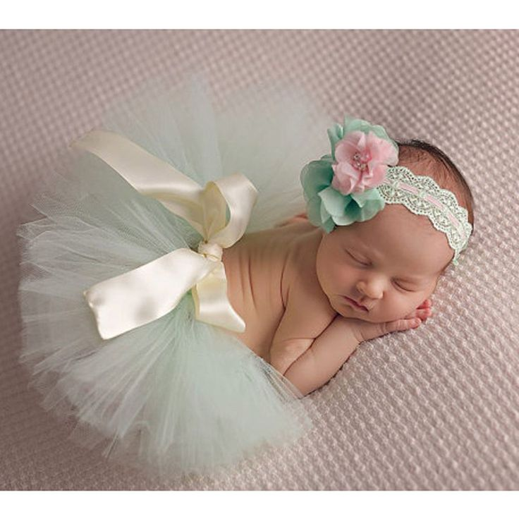 Newborn Baby Girl Flower Headband + Tutu Skirt Costume Photography Prop Outfits #UnbrandedGeneric