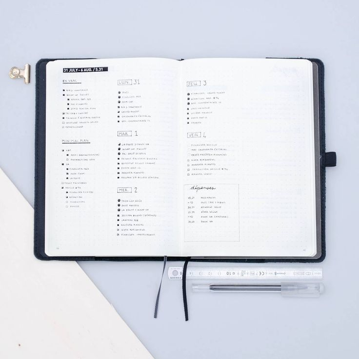 I'm back to basics with a master task list and dailies as a weekly log! | Bullet journal inspiration, minimal bullet journal ideas, weekly spread, weekly planner, time ladder, bullet journal daily log