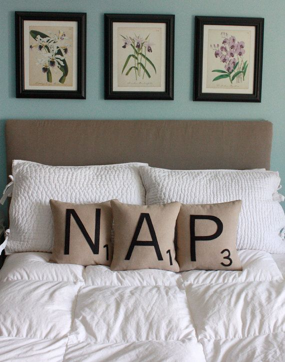 Scrabble tile pillows...initials or words